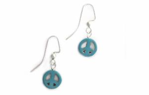Peace-Symbol-Earrings