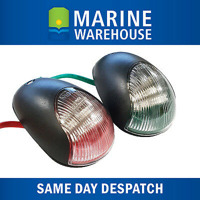 AQUATRACK LED NAVIGATION LIGHTS BLACK HOUSING-Port//Starboard Marine//Boat//Nav PB