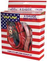 Qpower 4 Gauge Ga 2000w Car Amplifier Amp Complete Wiring Installation Kit + Rca on sale