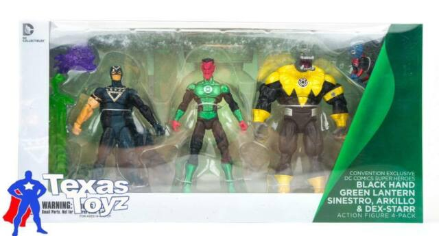 Green Lantern Sinestro Arkillo /& Dex-Starr Action Figure 4-Pack SDCC 2013 DC Comics Super Heroes Black Hand