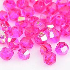 300pcs 4mm Rose red AB Swarovski crystal Bicone Beads