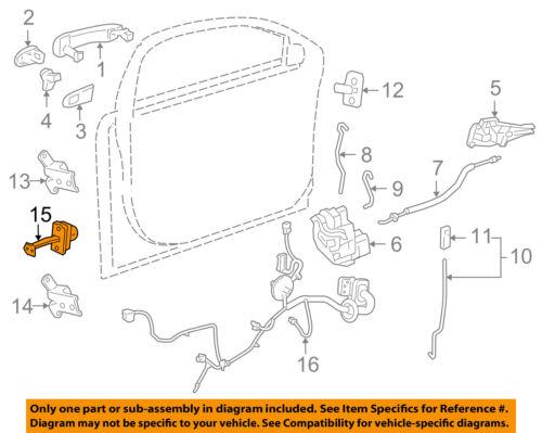 Chevrolet GM OEM 11-15 Cruze Front Door-Hinge Check 94551934