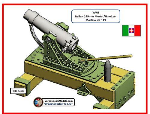 1//35 WW1 149 mm Italian mortar//howitzer Meng ICM Takom Dragon Hobby