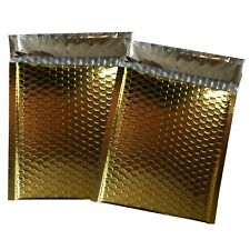 1000 0 Glamor Metallic Gold Poly Bubble Mailers Envelopes Bags 6x10 Dvd Wide Cd