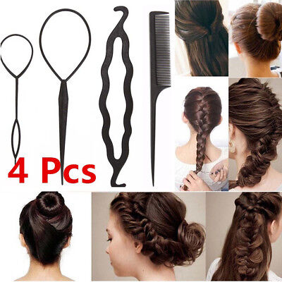 11Pcs Hair French Braid Topsy Tail Clip Magic Styling Stick DIY Bun Maker Tool