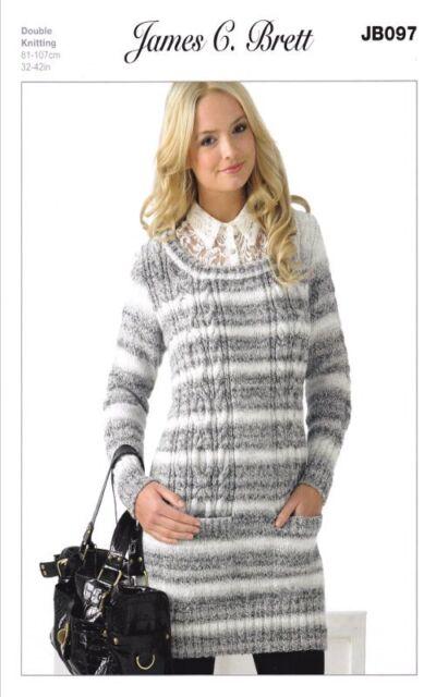 b4660565d8af 1960s UK Womens Knitting Patterns Source · James C Brett Sweater DK Knitting  Pattern Jb097 UK Post