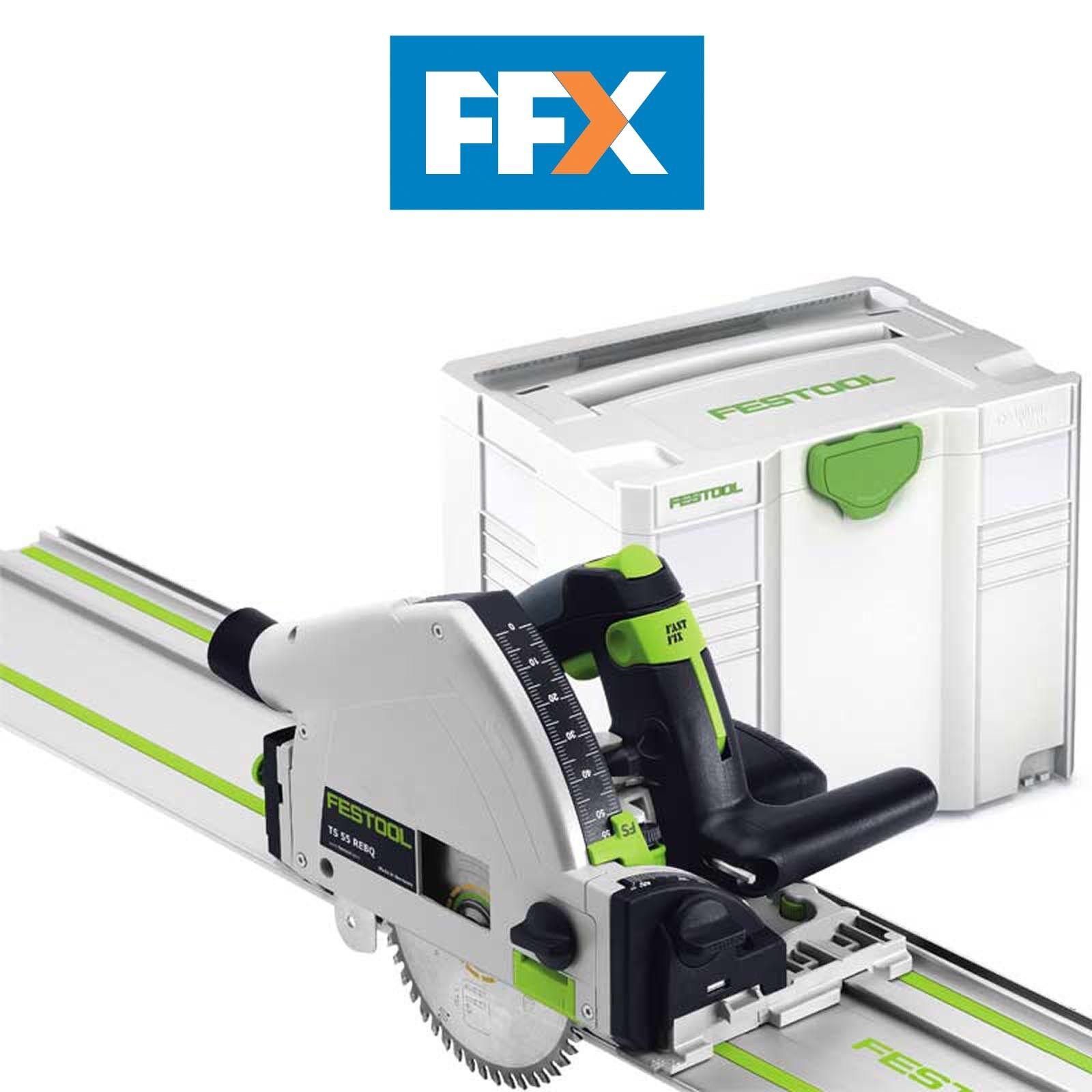 Festool 561583 TS55 REBQ-Plus-F 240v Plunge Saw, FS1400 Guide Rail + Systainer 4