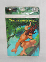 Tarzan 8- Invitations With Envelopes Party Supplies