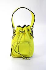 Fendi Mini Mon Tresor SRTSTY14 Calfskin Leather Bucket Bag  Yellow Black