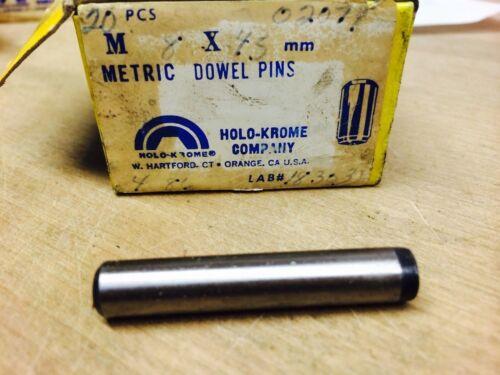 NN0929-20 M8 X 45  METRIC DOWEL PIN  HOLO-KROME #02077