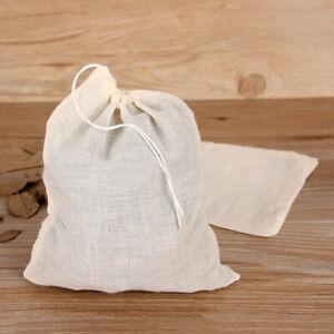 Drawstring-Tea-Bags-Filter-Bags-10pcs-Spices-Tea-Soup-Mesh-Reusable-Cotton