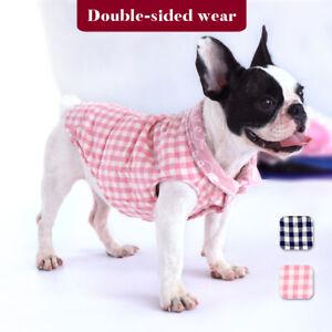 Warm Dog Clothes Coat British Style Pliad Pet Jacket French Bulldog Pug Clothes Puppy Vest Dog Apparel for Small Medium Dogs Black L