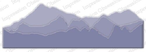 MOUNTAIN LANDSCAPE LAYERS Die Cutting Die by Impression Obsession DIE347-W New