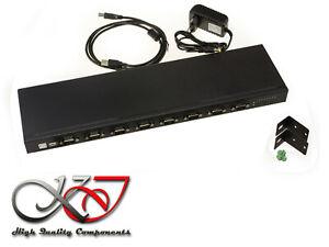 Convertisseur Usb 8 Ports Rs232 Rackable Interface Rs-232 Db9 Gamme Industrielle En Voyageant
