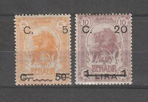S36322 Somalia 1916 Mmh Definitives Soprast. Saxon 17/18 2v