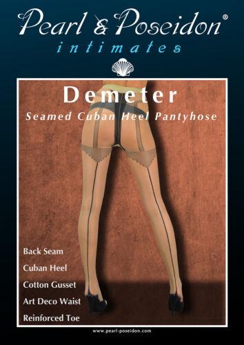"cuban heel pantyhose Art Deco style with seamed back leg. /""Demeter/"""