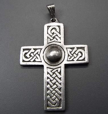 Neu Zinn KettenanhÄnger Kreuz Silber Groß + Massiv Anhänger KreuzanhÄnger Den Menschen In Ihrem TäGlichen Leben Mehr Komfort Bringen