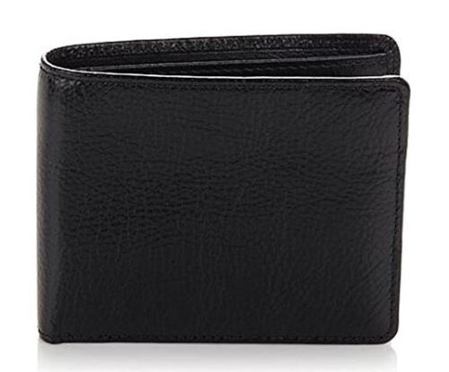 TravelSmith BLACK Men/'s Leather RFID-Blocking Billfold Wallet NIB