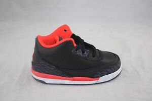 04cb410e08b TODDLER JORDAN 3 RETRO (TD) 832033-005 BLACK/BRIGHT CRIMSON-CANYON ...