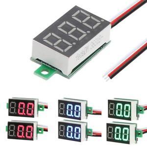 2pcs-0-36-034-Mini-DC-0-100V-3-Digital-Display-LED-Voltage-Voltmeter-Panel-Meter