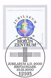 Agressif Rfa 2000: Milleniummarke Nº 2087 Avec Propre De Berlin Ersttags Cachet! 1a 1610-l! 1a 1610fr-fr Afficher Le Titre D'origine