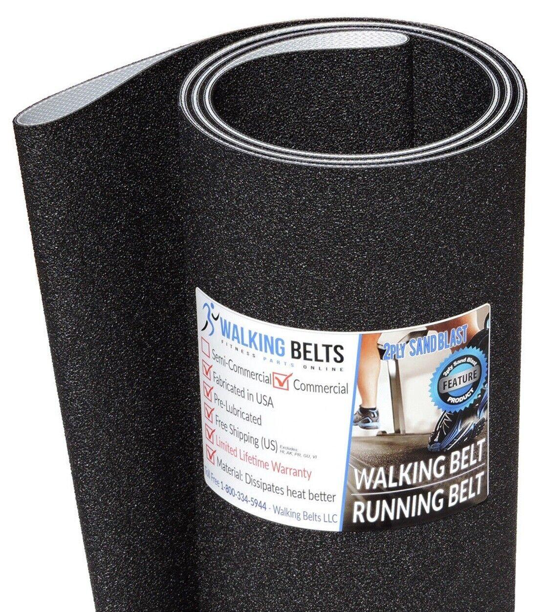 Precor C954i S N  XH Treadmill Running Belt Belt Belt 2-ply Sand Blast + Free 1oz Lube 76b2f6