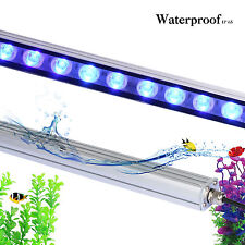 54W led aquarium light strip bar blue spectrum fish tank reef coral growth light
