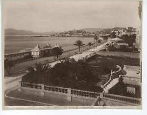 G-J-France-Cannes-Boulevard-de-la-Croisette-Vintage-albumen-print-Tirage