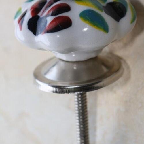 Meubles bouton céramique Meubles Poignée de Tiroir Poignée Meubles Pommeaux Meubles Boutons Blanc Coloré