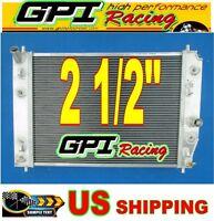 Gpi 2 1/2 Aluminum Radiator For Chevrolet Corvette C6 Double Oil Cooler