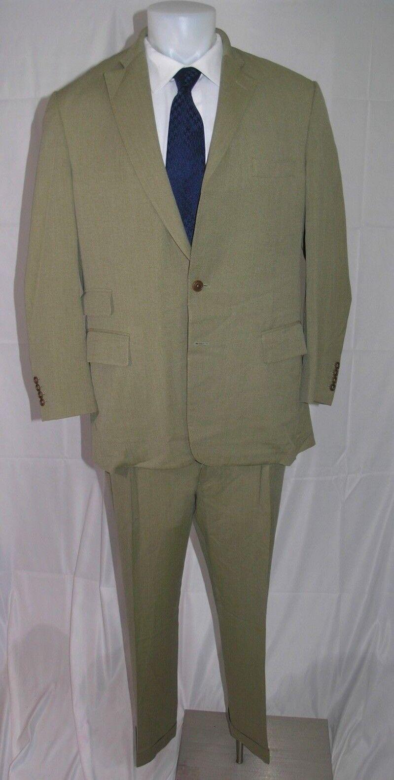 Paul Stuart Edward Super 110 Cotton Blend Two Button Suit 42 ST 36 x 29