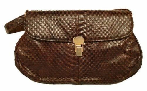 Vintage Purse Brown Snakeskin Handbag 1940S WW 2 F