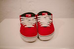 153ec670c19002 Vans red Half Cab 14 Oz Canvas Skate Shoe mens 10 vegan