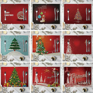 HO-KF-KQ-JN-Christmas-Tree-Linen-Heat-Insulation-Placemat-Kitchen-Dining-Tab