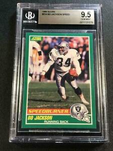 BO-JACKSON-1989-SCORE-FOOTBALL-314-SPEEDBURNER-CARD-BGS-9-5-RAIDERS-NFL