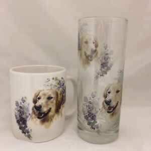 GOLDEN-RETRIVER-MUG-AND-MATCHING-TALL-HIGHBALL-GLASS