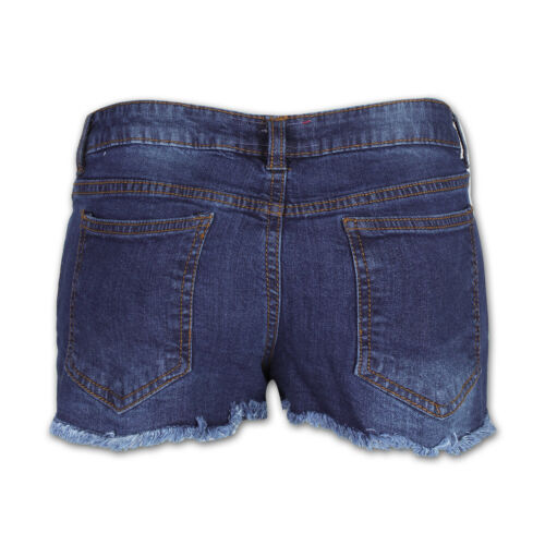 Ladies Denim Shorts Stretchy Belted Hot Pants Distressed Embroidered Jeans Short