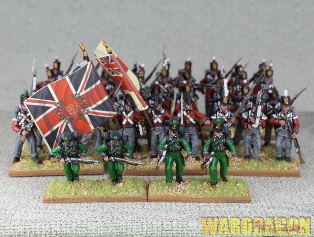 mm napoleónicas Wds Pro Pintado Infantería británica m81