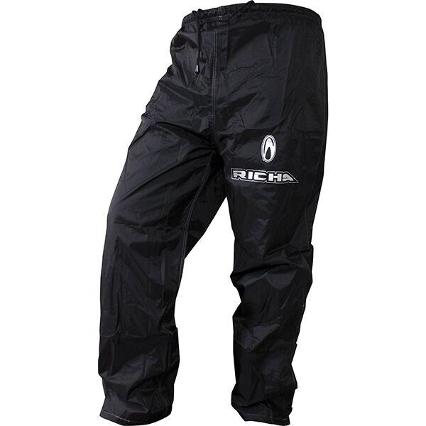 Richa Pluie Warrior Surpantalon Imperméable Moto Jeans Pantalon Noir