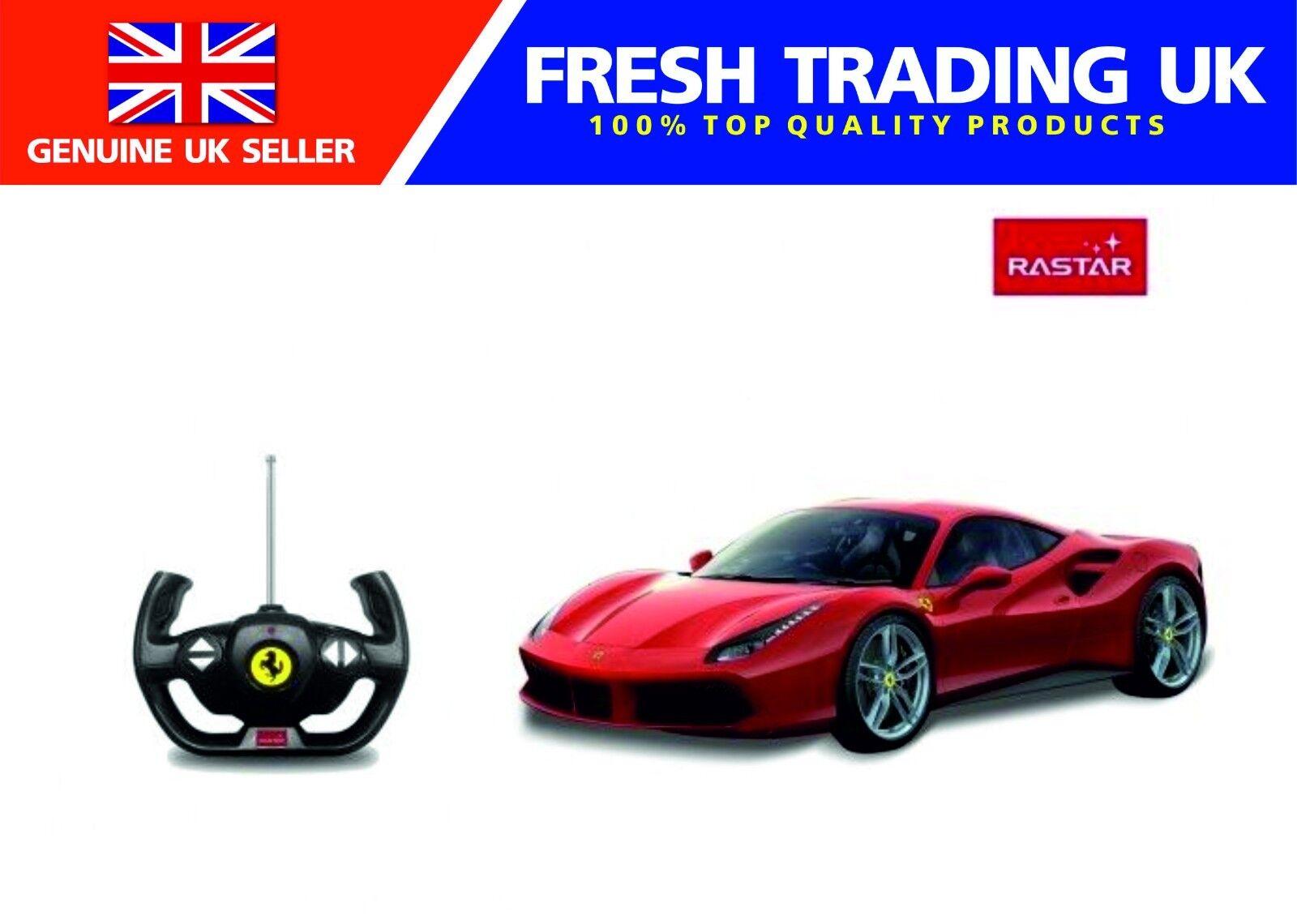 Rastar Radio Remote Control 1 14 Scale Ferrari 488GTB Licensed RC Car - Red