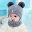 Winter Warm Knit Bobble Beanie Cap Scarf Set Newborn Kids Baby Boy Girl Pom Hat
