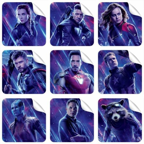 Avengers End Game 9 Stickers 3 Stickers FREE GIFT NEW 2019 Endgame Black Widow