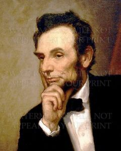Image Is Loading Abraham Lincoln 1869 White House Portrait Healy Color