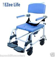 Aluminum Shower Commode Chair Lightweight Adjustable 18 Toilet Seat 250 Lbs.