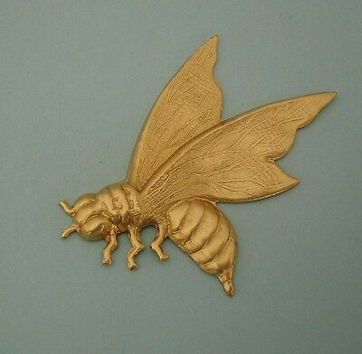 1-Large Wasp Bee Insect Brass Stamping Ornament Pendant Jewelry Findings.