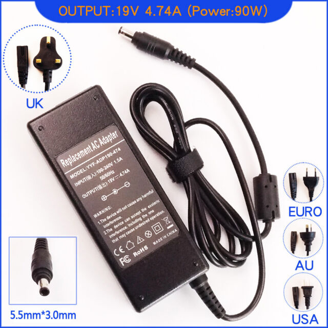 AC Adapter Charger For Samsung DP500A2D-K01UB, NP680Z5E-X02US With Power Cord