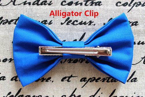 New Big Cotton Fabric Bow Hair Clip