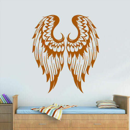 Z2961 Wall Vinyl Sticker Bedroom Decal Wings Angel