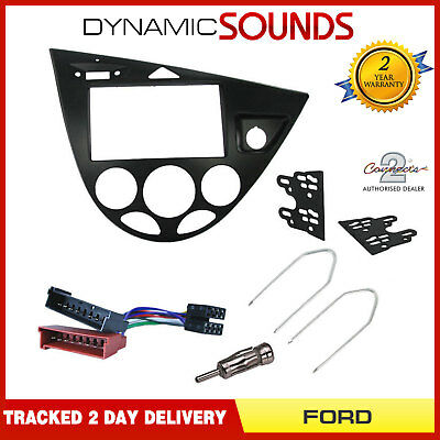 CT23FD32L FORD FOCUS 1999 to 2005 BLACK LEFT HAND DRIVE DOUBLE DIN FACIA ADAPTER