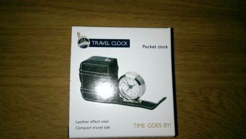 Compact Travel//Pocket Clock with Case